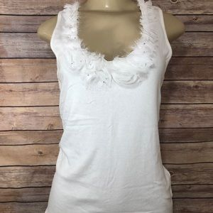 Pre-Owned Like New INC White Tanktop